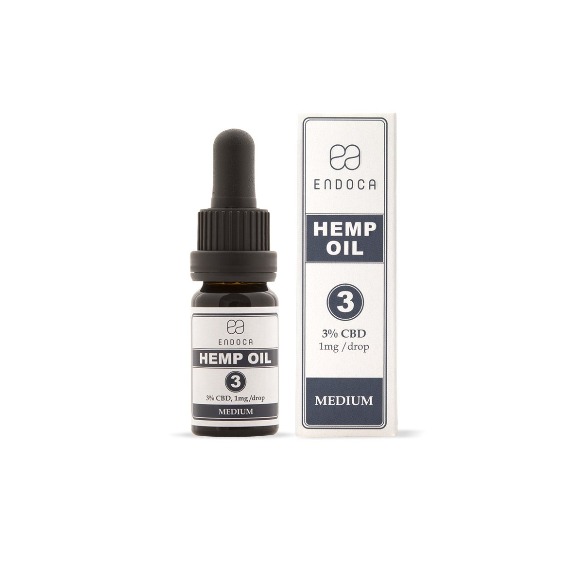 Endoca CBD-Hanföl Decarb 3% CBD (300mg)