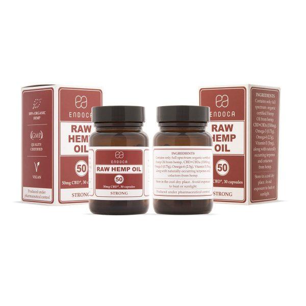 Endoca CBD-Kapseln Raw 15% CBD (1500mg)